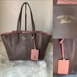 Authentic Gucci All leather  tote bag